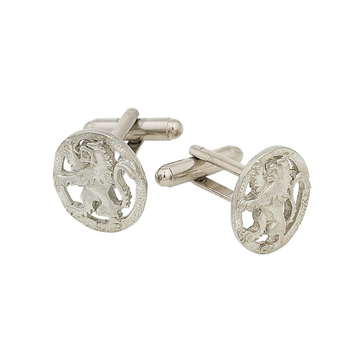 Lion Rampant Polished Cufflinks | The Scottish Company | Toronto