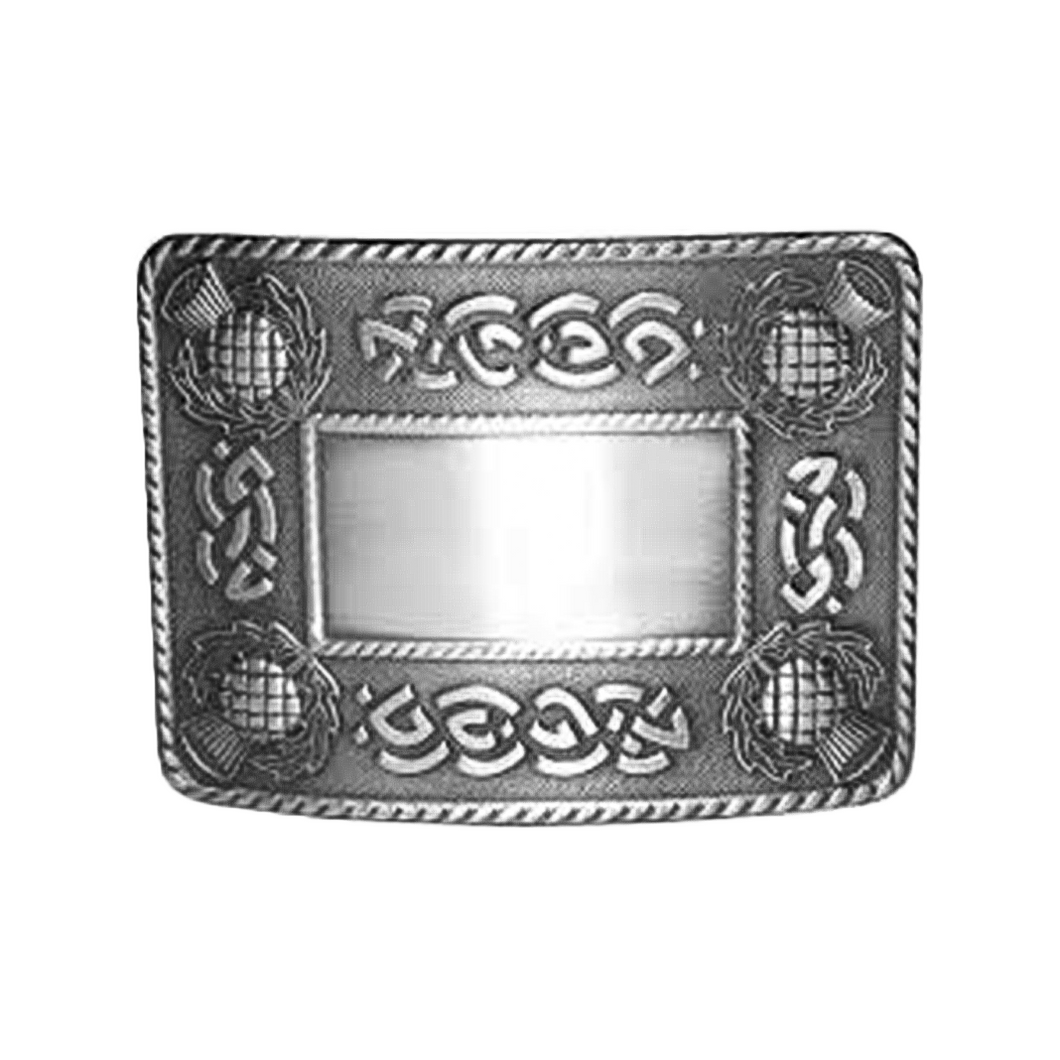 Celtic Knot and Thistle Belt Buckle | The Scottish Company