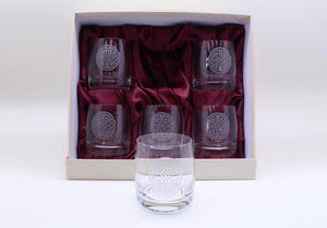 Burns Crystal | Celtic Knot Round Whisky Glasses