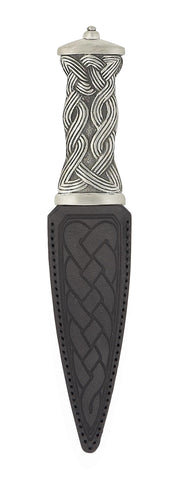 Dress Sgian Dubh | Celtic design in pewter with plain top