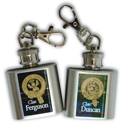 Clan Crest Keychain Flask