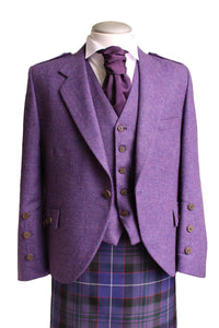 Purple Tweed Jacket and Vest | The Scottish Company
