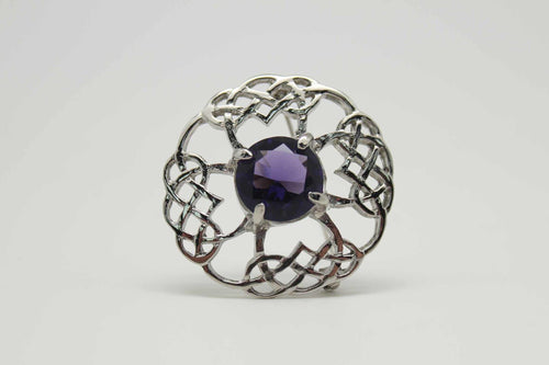 Brooch | Glendevon with Amethyst Coloured Stone