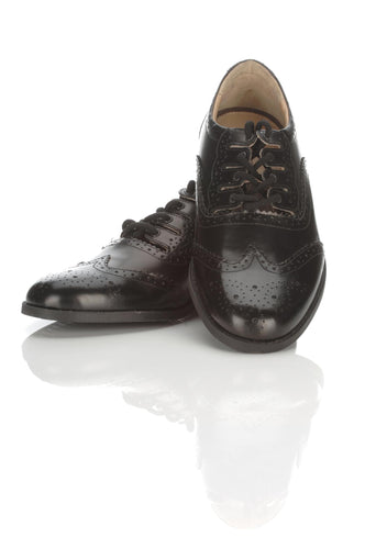 Black Ghillie Brogues Leather upper & synthetic sole