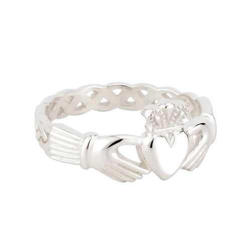 Solvar | Women's Claddagh Weave Band Ring