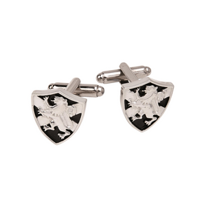 Lion Rampant and Saltire Shield Cufflinks | The Scottish COmpan