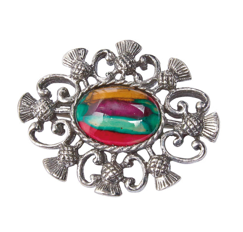 Alyth Thistle Heathergem Brooch | The Scottish Company | Toronto