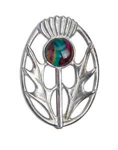 Heathergems | Modern Thistle Brooch