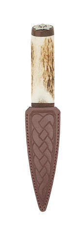 Daywear Sgian Dubh | Staghorn hilt with Thistle top