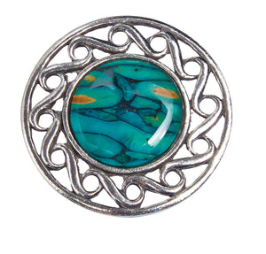 Heathergems Celtic Swirl Brooch | The Scottish Company | Toronto