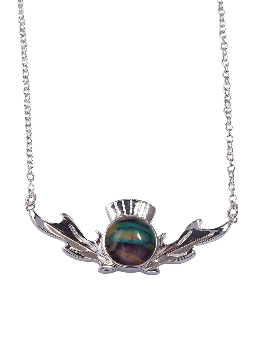 Thistle Heathergem Necklace | The Scottish Company | Toronto