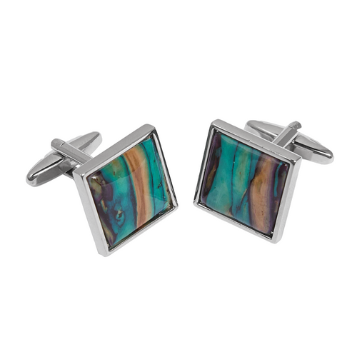 Square Heathergem Cufflinks | The Scottish Company | Toronto