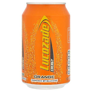lucozade, orange, energy, can