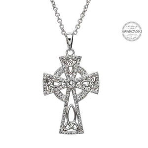 Celtic Trinity Cross Embellished with Swarovski Crystals