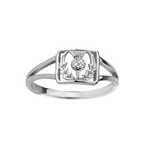 Square Thistle Ring | The Scottish Company