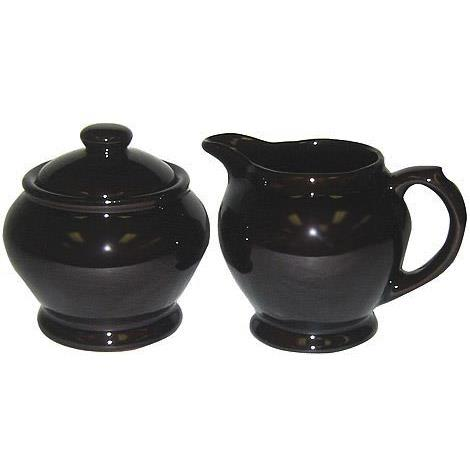 Brown Betty Cream and Sugar Set