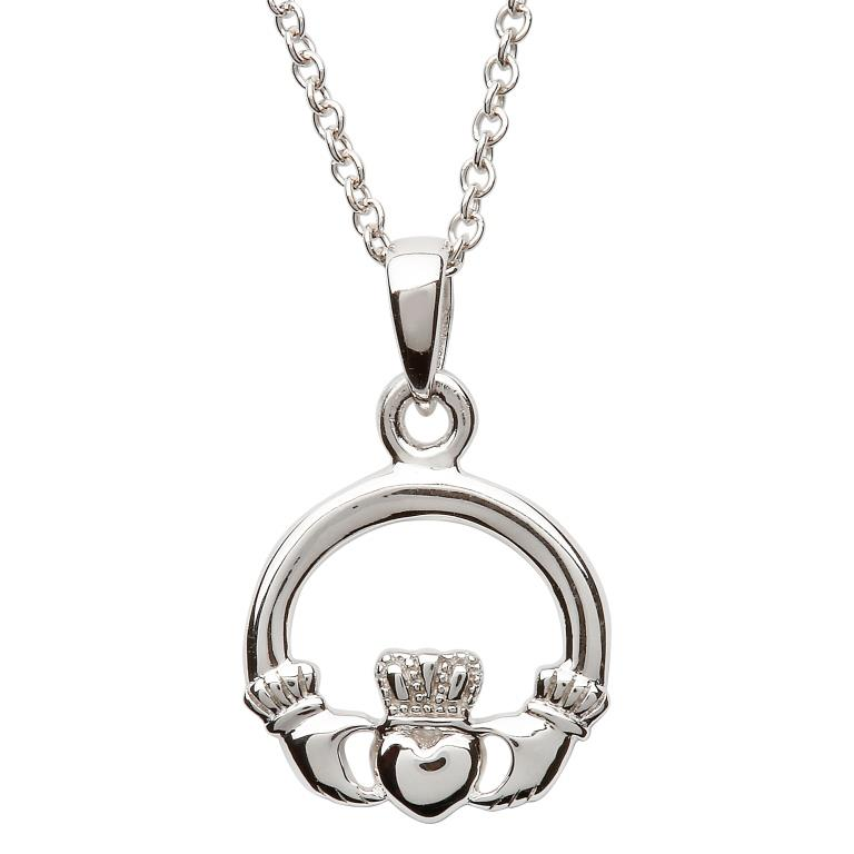 Silver Claddagh Necklace