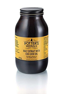 Potter's Herbals | Malt Extract with Cod Liver Oil