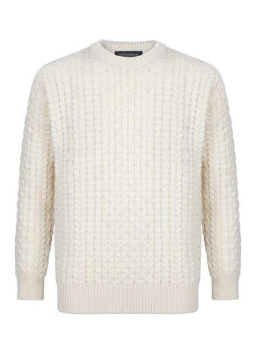 Irelands Eye | Men's Lightweight Mariner Crew Neck Aran Sweater