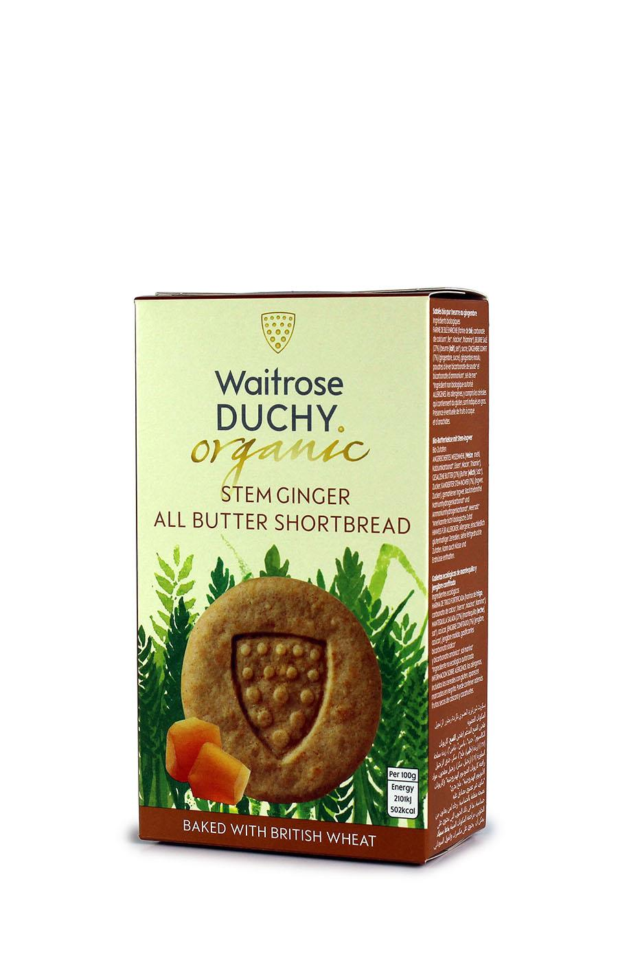 Waitrose Duchy organic stem ginger all butter shortbread
