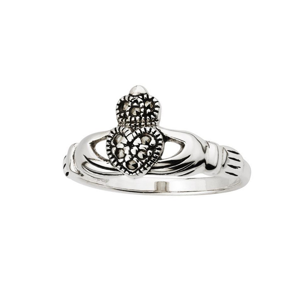 Claddagh Ring | Marcasite and Sterling Silver
