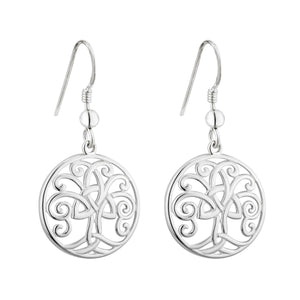 Solvar | Tree of Life Drop Earrings