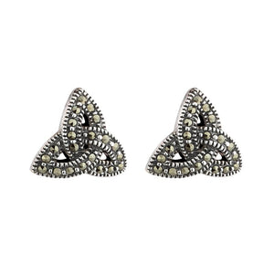 Marcasite Trinity Knot Earrings