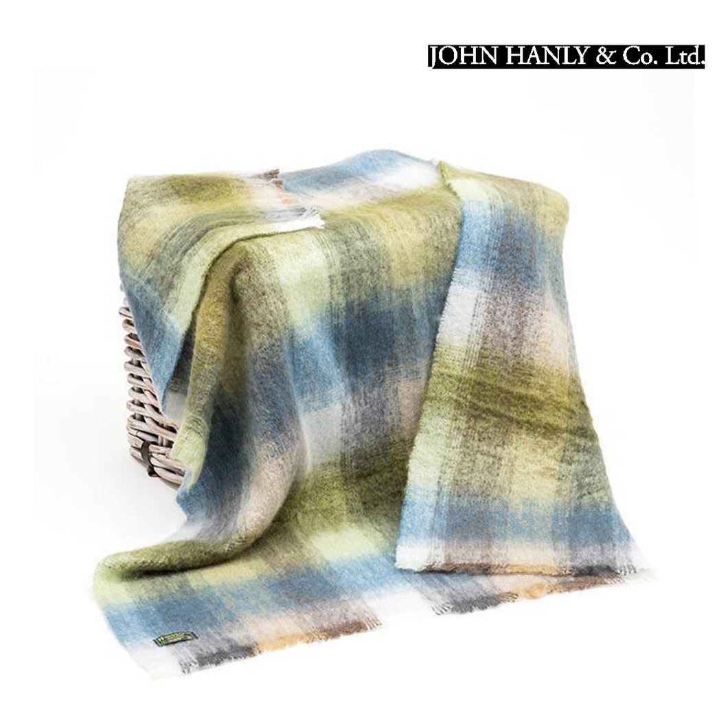 John Hanly Mohair & wool Throw | The Scottish Company