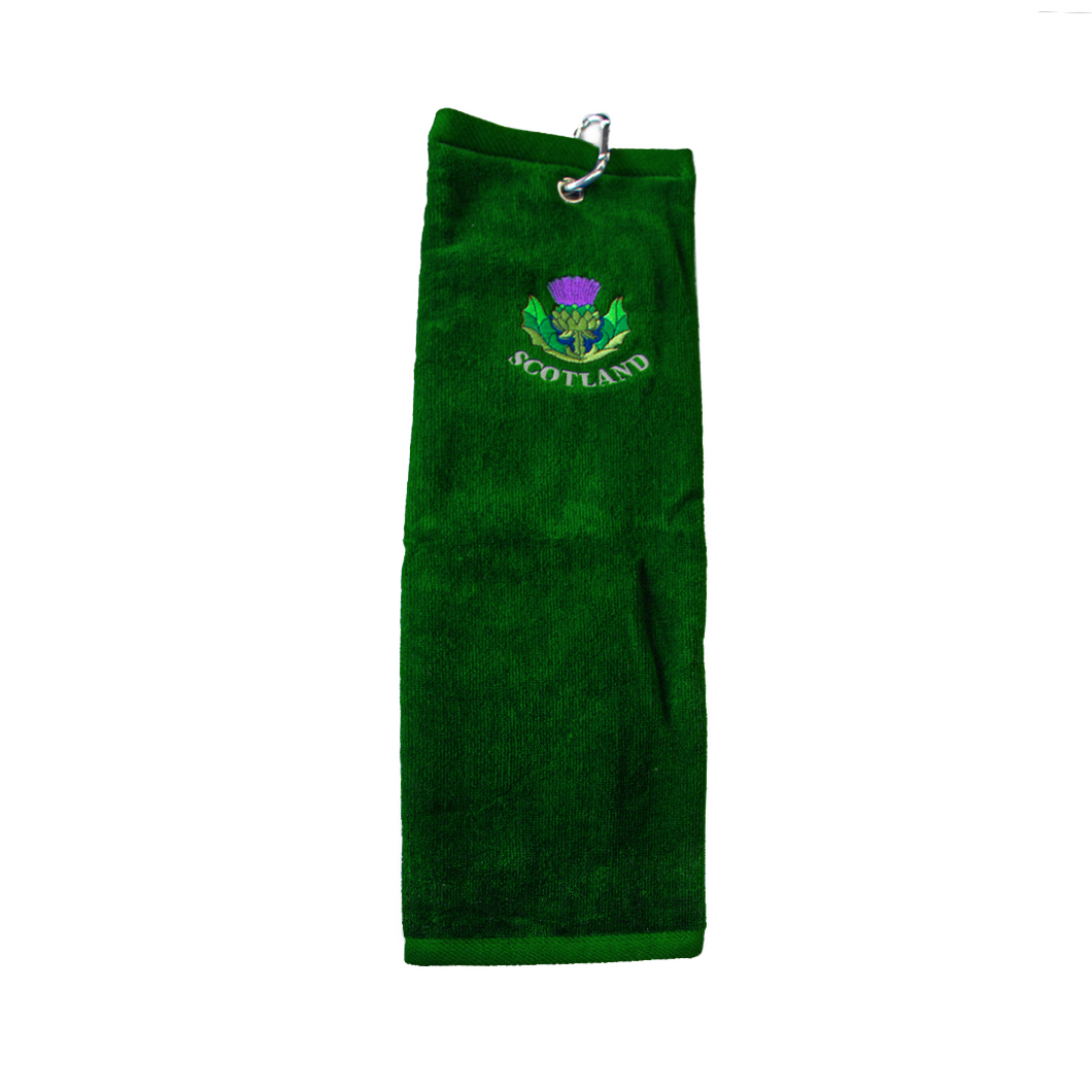 Green Scotland Golf Towel | The Scottish Company | Toronto