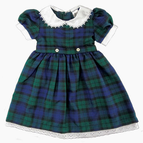 Tartan Dress with Belt Ties