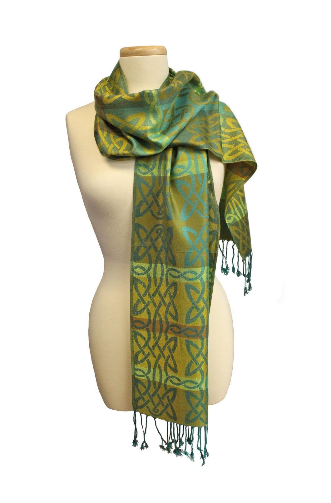 Green Achill Celtic Weave Pashmina | The Scottish Company | Toronto Canada