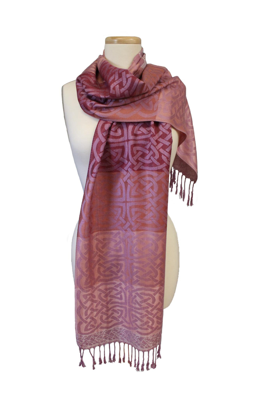 Celtic Weave Pashmina | Pink Cathaigh