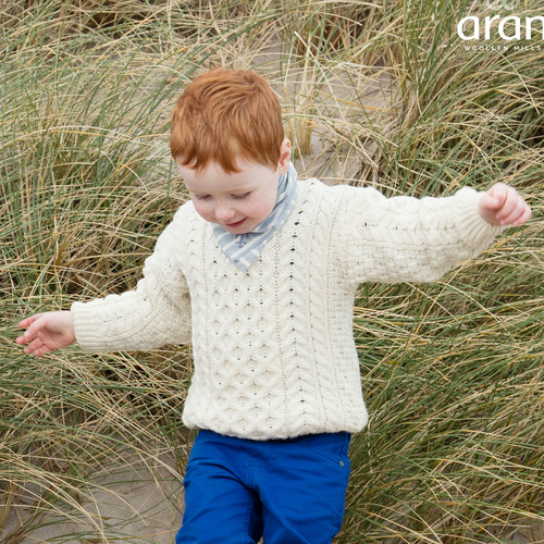 Aran Woollen Mills | Children's Aran Cable Knit Sweater