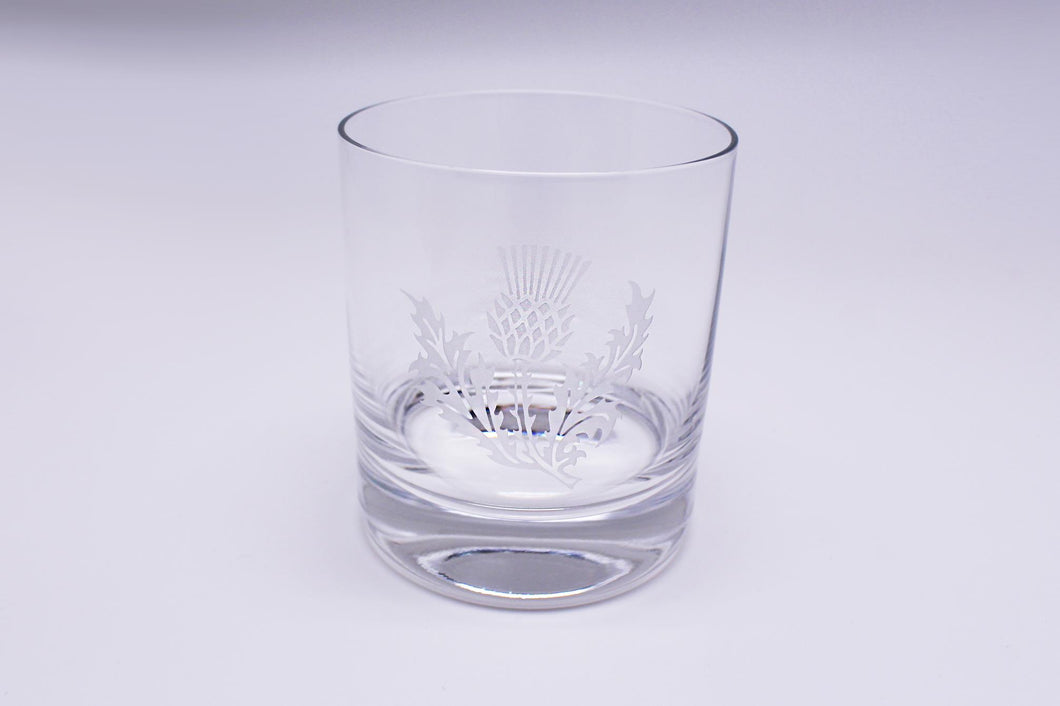 Burns Crystal | Thistle Round Whisky Glass