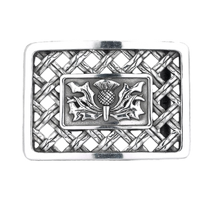 Belt Buckle | Thistle Open Weave Design
