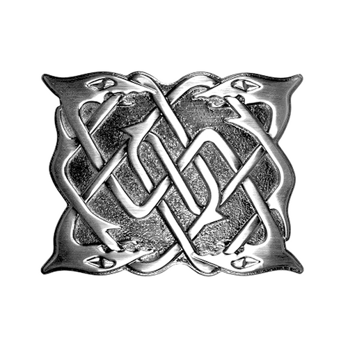 Belt Buckle Antique Chrome Serpent