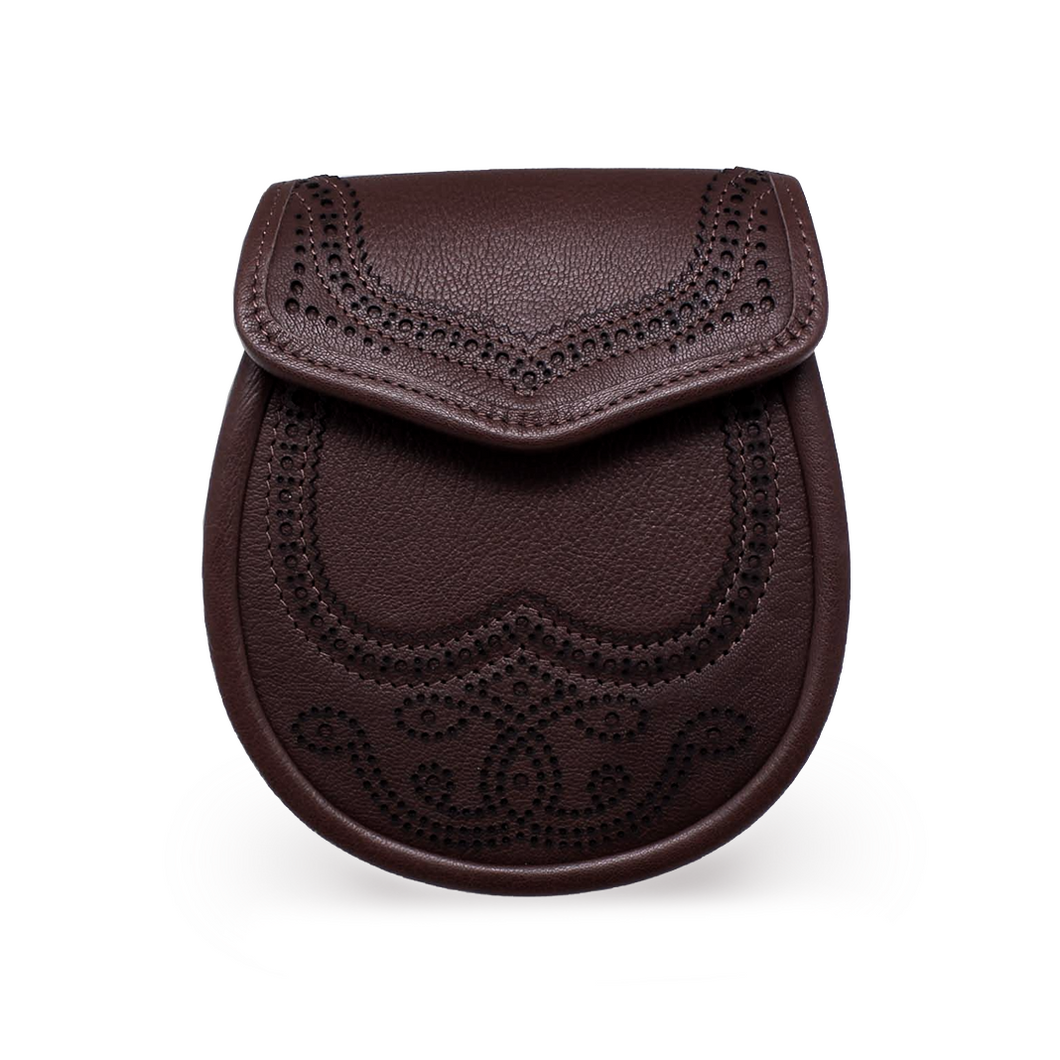 Brown kid leather sporran | the Scottish Company