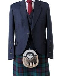 Midnight Blue Crail Kilt Jacket & Vest | The Scottish Company