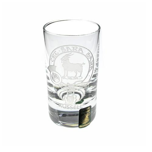 Clan Crest Dram Glass A-L