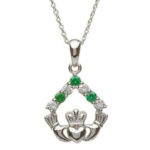 Shanore | Claddagh & Stone Pendant