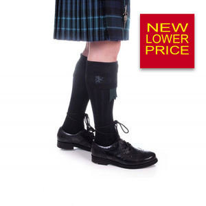 Kilt Hose | Rampant Lion Embroidered in Black
