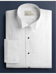 Wing Tip Pleated Shirt | Slim Fit