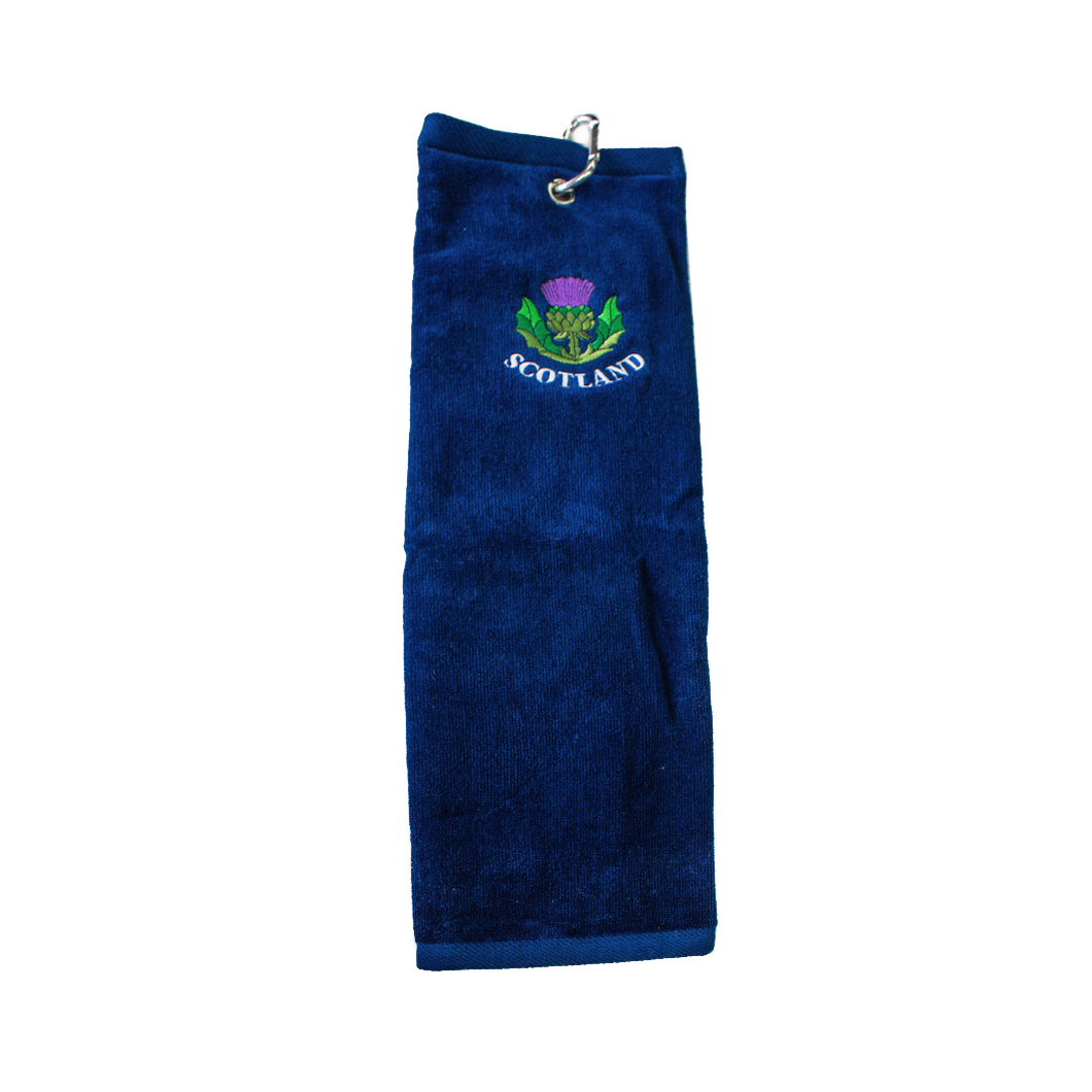 Blue Scotland Golf Towel | The Scottish Company | Toronto
