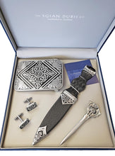 Dress Sgian Dubh Set | Thistle Design and Celtic Knot