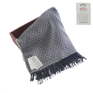 Avoca Cashmere Blend B Grey Throw | The Scottish Company | Toronto