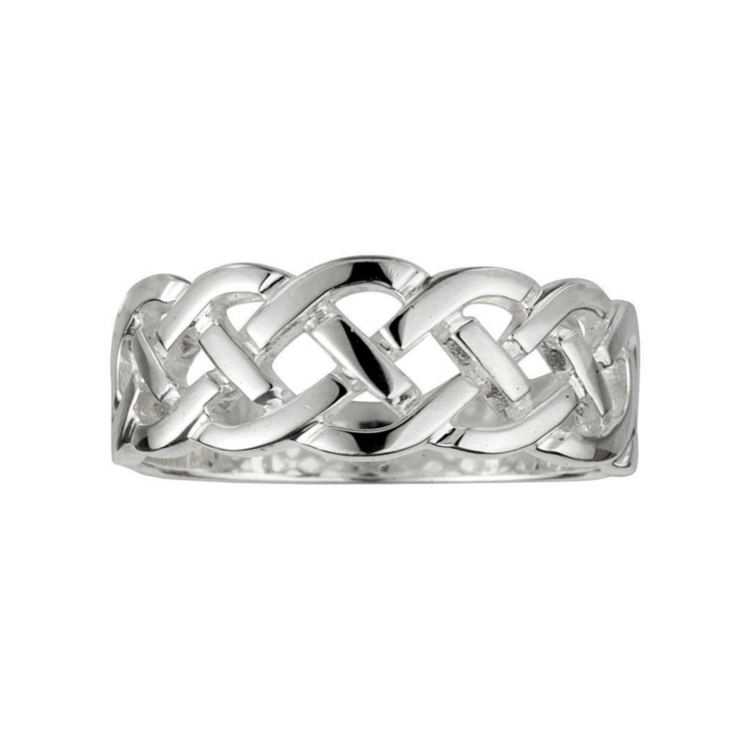 Solvar | Celtic Weave Band Ring