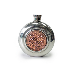 6oz Celtic Pewter and Copper Flask