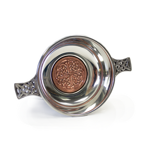 "3.5"" Copper Bottom Pewter Quaich 