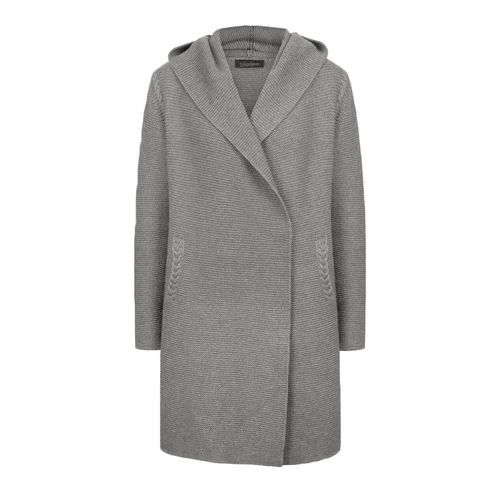 Irelands Eye Knit Coat Silver | The Scottish Company | Toronto