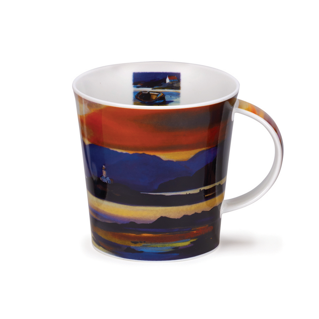 Dunoon Lighthouse Red Skies Mug | The Scottish Company | Toronto